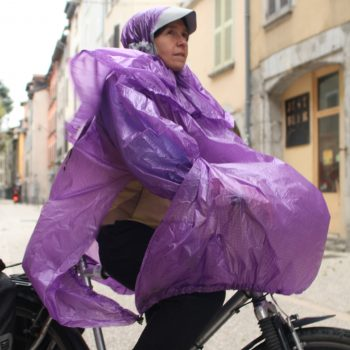 Poncho protection pluie velo fabriqué made in France