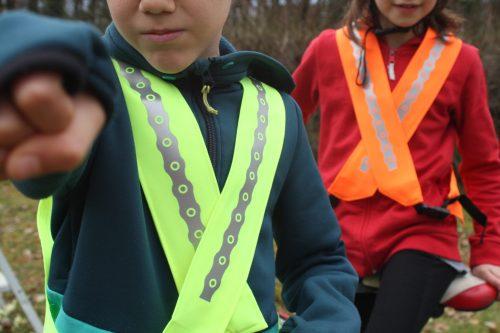 Gilet fluo enfant de visibilité fabriqué en France Vasimimile
