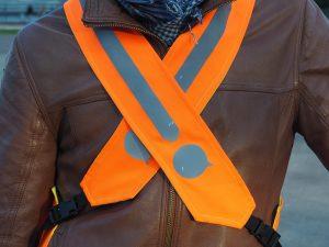 Gilet orange fluo de visibilité