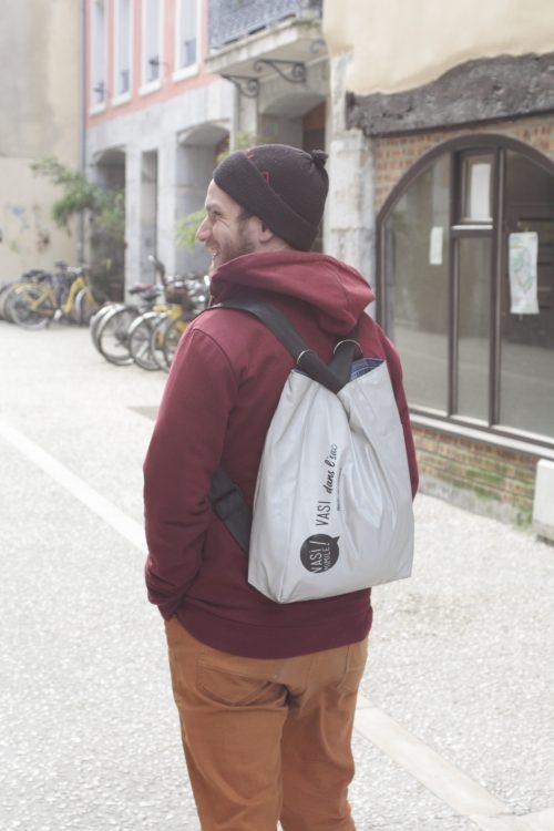 Sac cabas/sac à dos rétroréfléchissant made in France