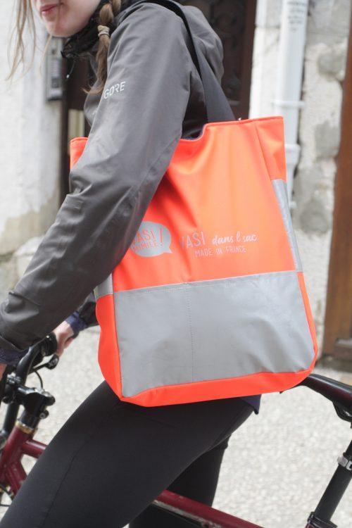 Sac cabas transformable réversible sac à dos pour cyclistes
