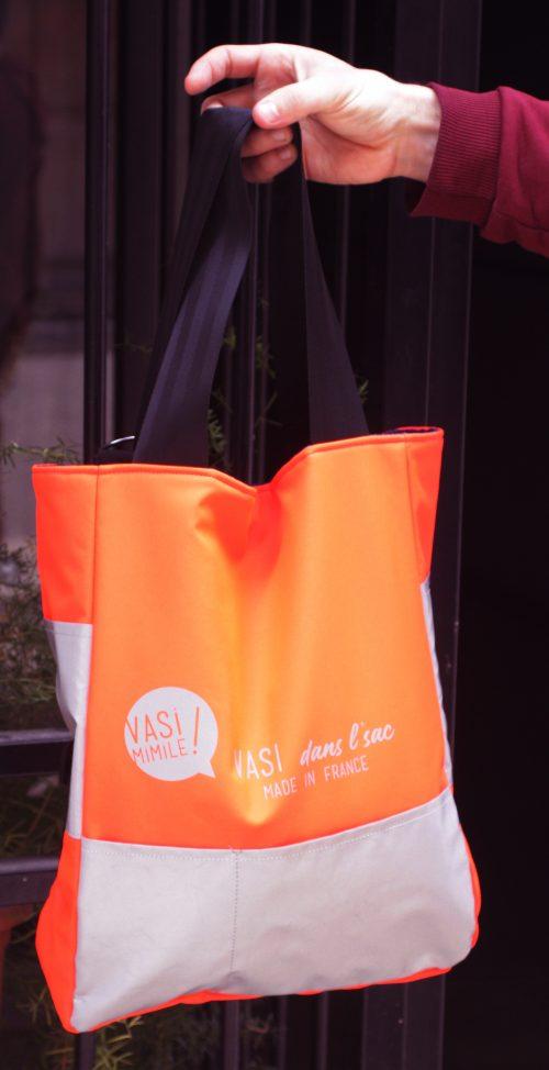 sac cabas haute visibilité pour cyclistes