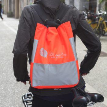Sac à dos haute visibilité fabriqué en France pour vélo