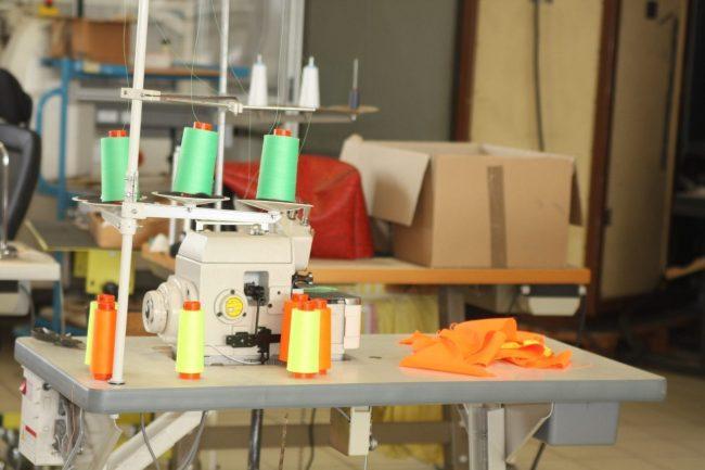 Les machines des ateliers de confection des Vasimimile